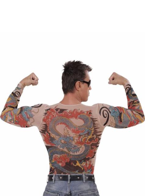 Tiger and dragon tattoo tshirt for a man