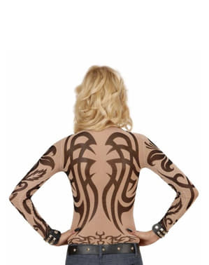 Tribal Tattoo Illusion Shirt for Women