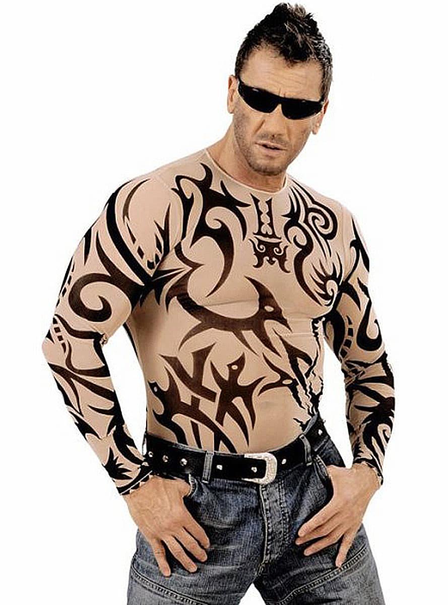t shirt tatouages tribal homme pour d guisement funidelia. Black Bedroom Furniture Sets. Home Design Ideas