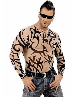 Shirt mit Tribal Tattoos für Herren