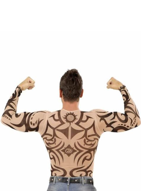Törzsi tetoválás póló egy férfi számára