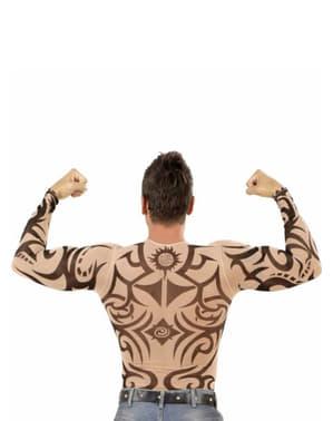 T-shirt med tribaltattoveringer til mænd