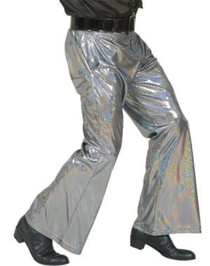Spodnie disco srebrne