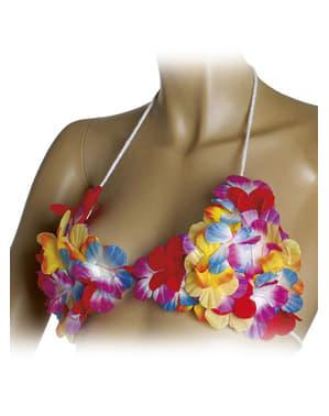 Sutiã havaiano de flores
