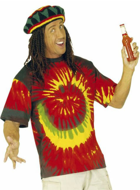 Camiseta rastafari tie dye para hombre