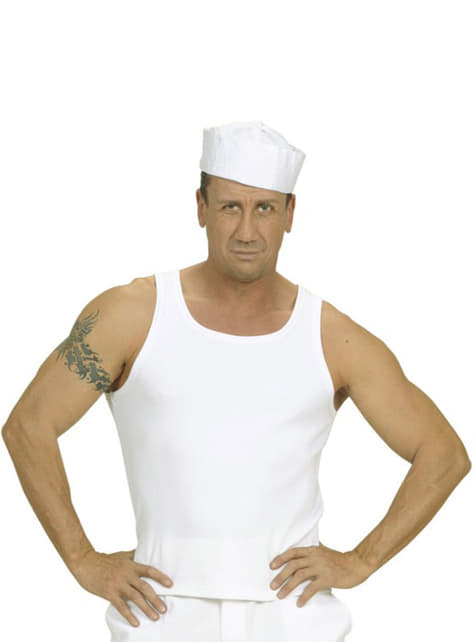 Camisola branca de Suspensórios