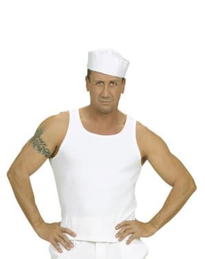 Hvid t-shirt med seler
