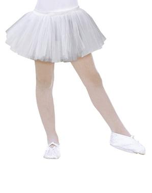 एक लड़की के लिए सफेद बैलेरीना टूटू