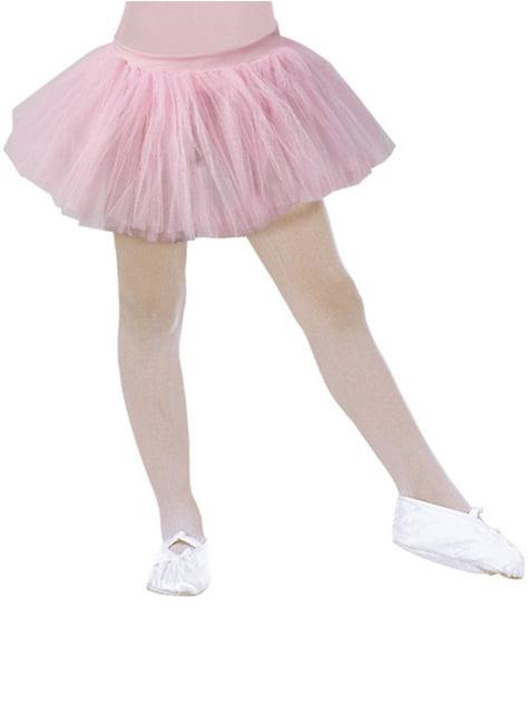 Tutu de bailarina cor-de-rosa para menina