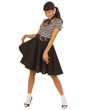 Black rockabilly skirt