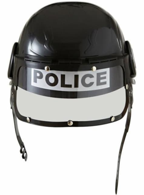 Casco de policía antidisturbios
