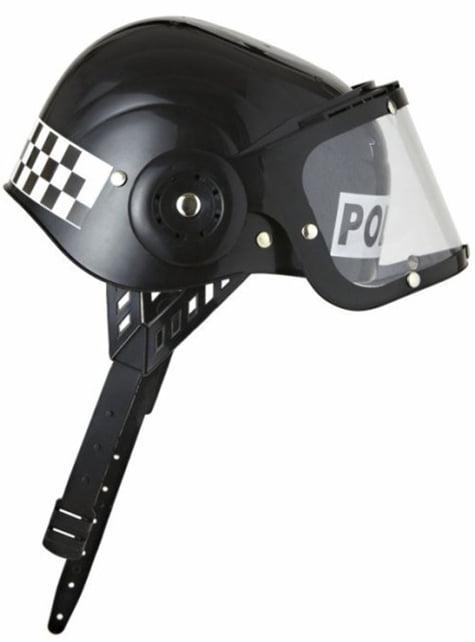 Casco de policía antidisturbios - para tu disfraz