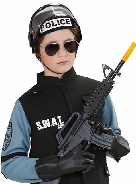 Casco de policía antidisturbios - original