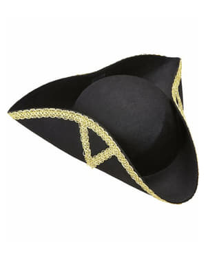 Black general three cornered hat