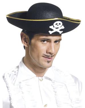 Piratenhoed met witte doodskop