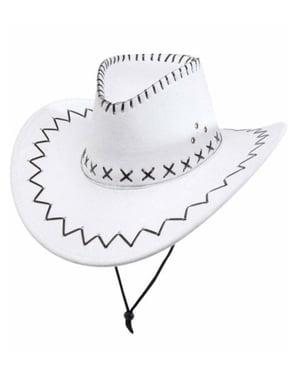 Sombrero de vaquero blanco elegante