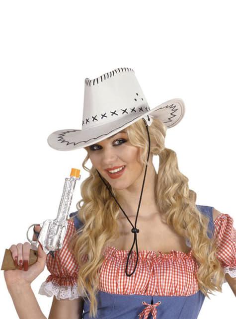 Sombrero de vaquero blanco elegante - para tu disfraz