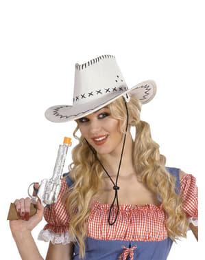 Pălărie de cowboy albă