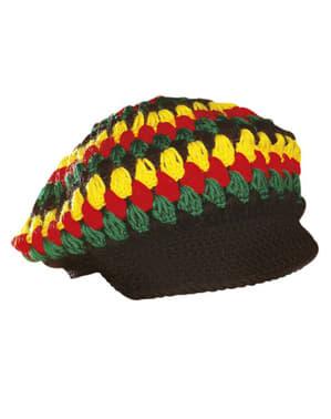 Czapka rastafari szydełkowana