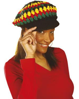 Rastafariánská čepice háčkovaná