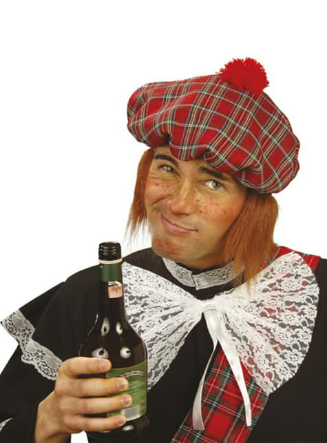 Béret écossais avec perruque
