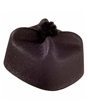 Sombrero de párroco negro
