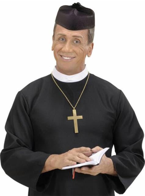 Sombrero de párroco negro - para tu disfraz