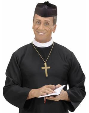 Chapeau curé de la paroisse noir