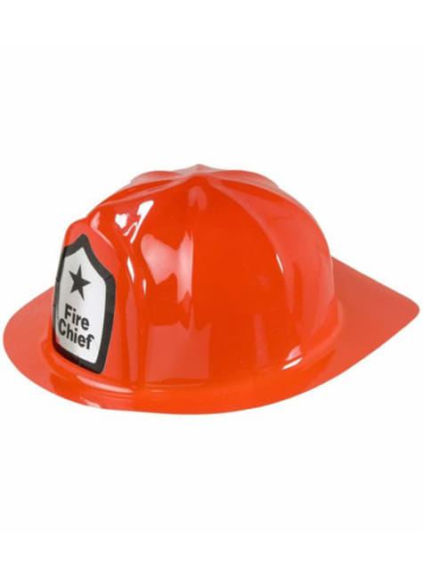 Casco de bombero jefe