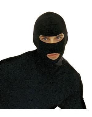 Cagoule noire de voleur