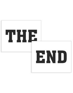 "Set 2 Pelekat Kasut ""The End"""