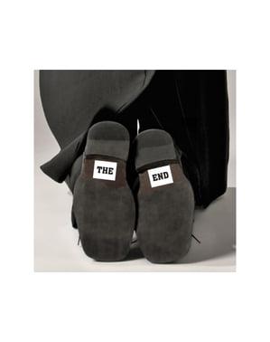 「終わり」の靴のステッカー2枚セット