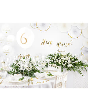 Wit rond stoffen tafelkleed van 230 cm
