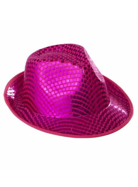 Sombrero de lentejuelas rosa