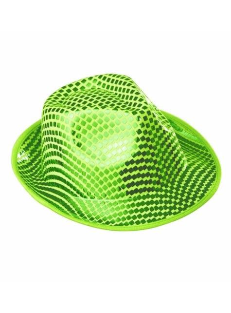 Sombrero de lentejuelas verde
