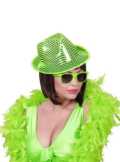 Sombrero de lentejuelas verde - para tu disfraz