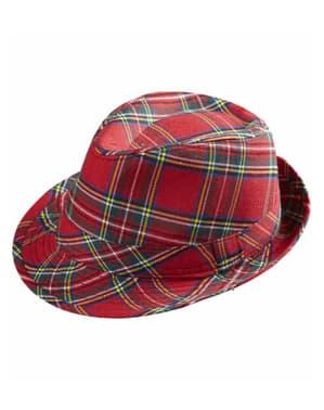 Chapéu tartan vermelho