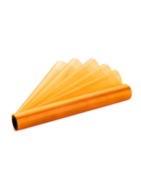 Rollo de organza naranja de 36cm x 9m - barato