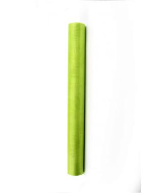 36cm x 9mの薄緑色のオーガンザのロール