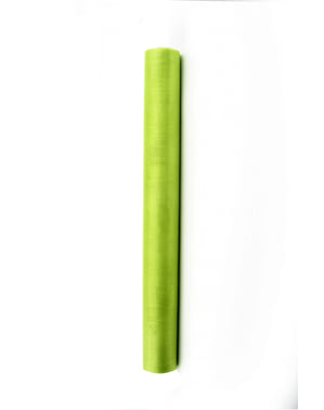 Roll of organza in light green measuring 36cm x 9m