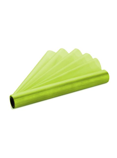 Rollo de organza verde claro de 36cm x 9m - barato