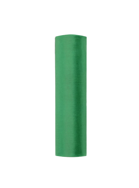 Rolo de organza verde esmeralda de 16cm x 9m