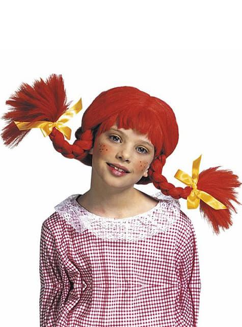 女の子のための赤いひもでかつら