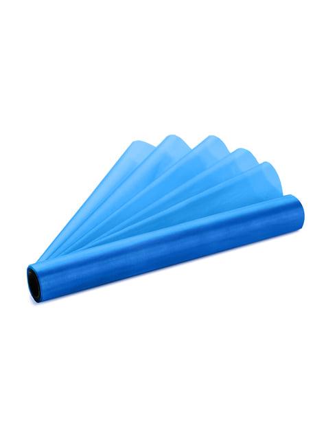 Rollo de organza azul turquesa de 16cm x 9m