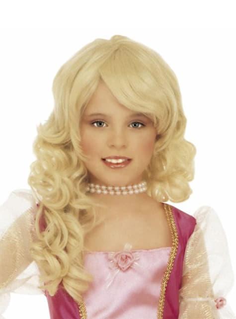 Blonde glamour pruik voor meisjes