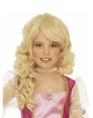 Peluca rubia glamour para niña