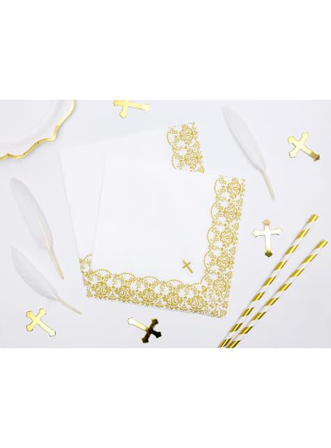 8 plumas decorativas blancas - First Communion - barato