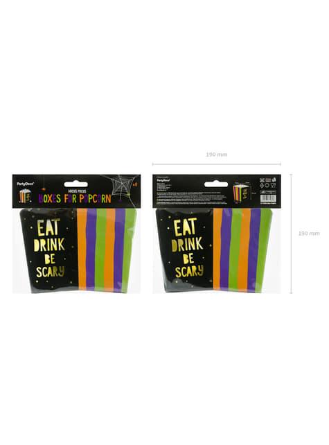 6 cajas de palomitas estampadas multicolor de papel - Hocus Pocus Collection