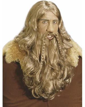 Parrucca e barba da vichingo