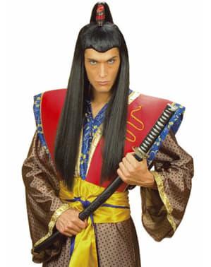 Peruca de samurai comprida